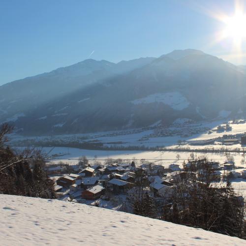 Fügen nella valle Zillertal con la neve