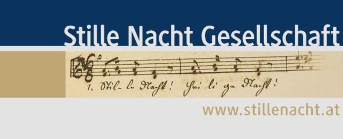 Logo Stille Nacht Gesellschaft, Beige, Blau