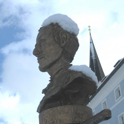 Mariapfarr, fountain, Silent Night square