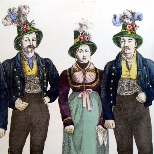 Antico disegno dei 5 cantori Rainer