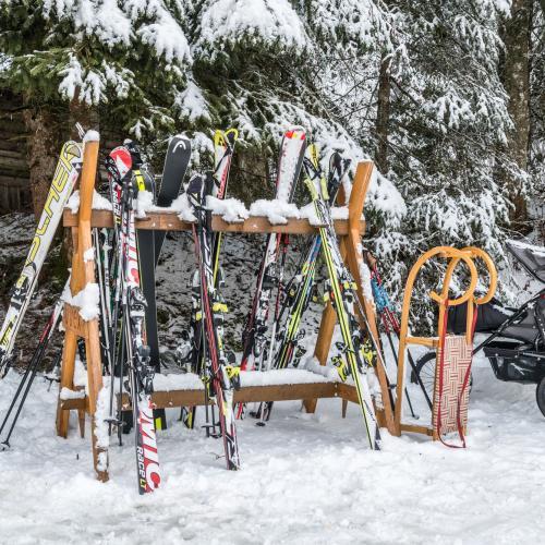 Ski, Schlitten, Schnee