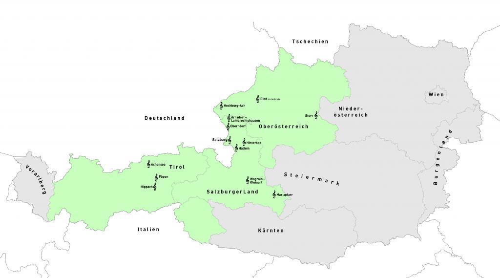 Landkarte, Stille-Nacht-Land