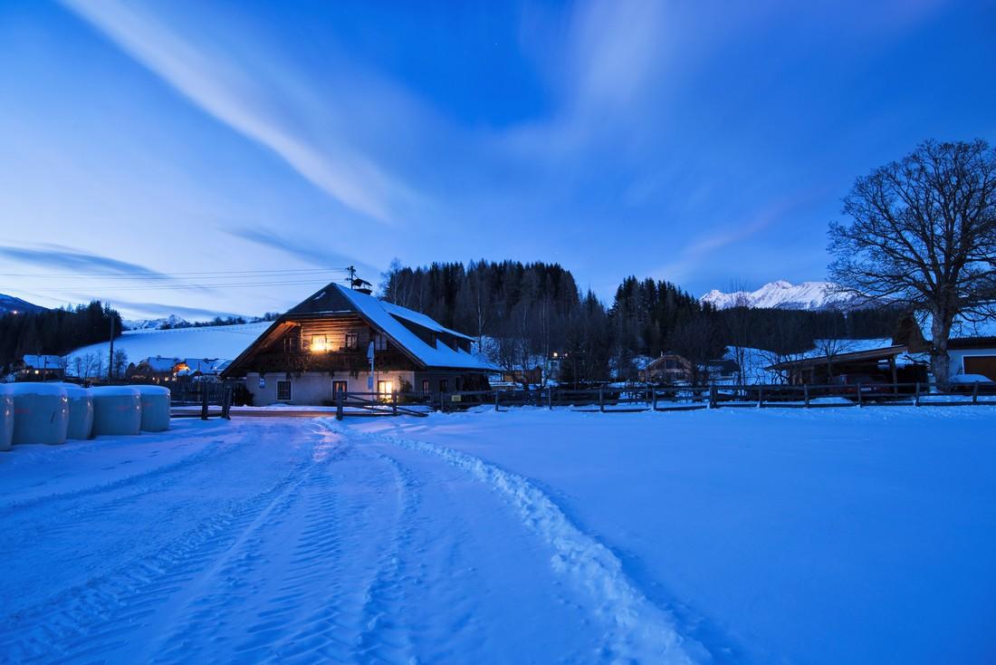 Scharglerkeusche-Stranach in winter - Mariapfarr