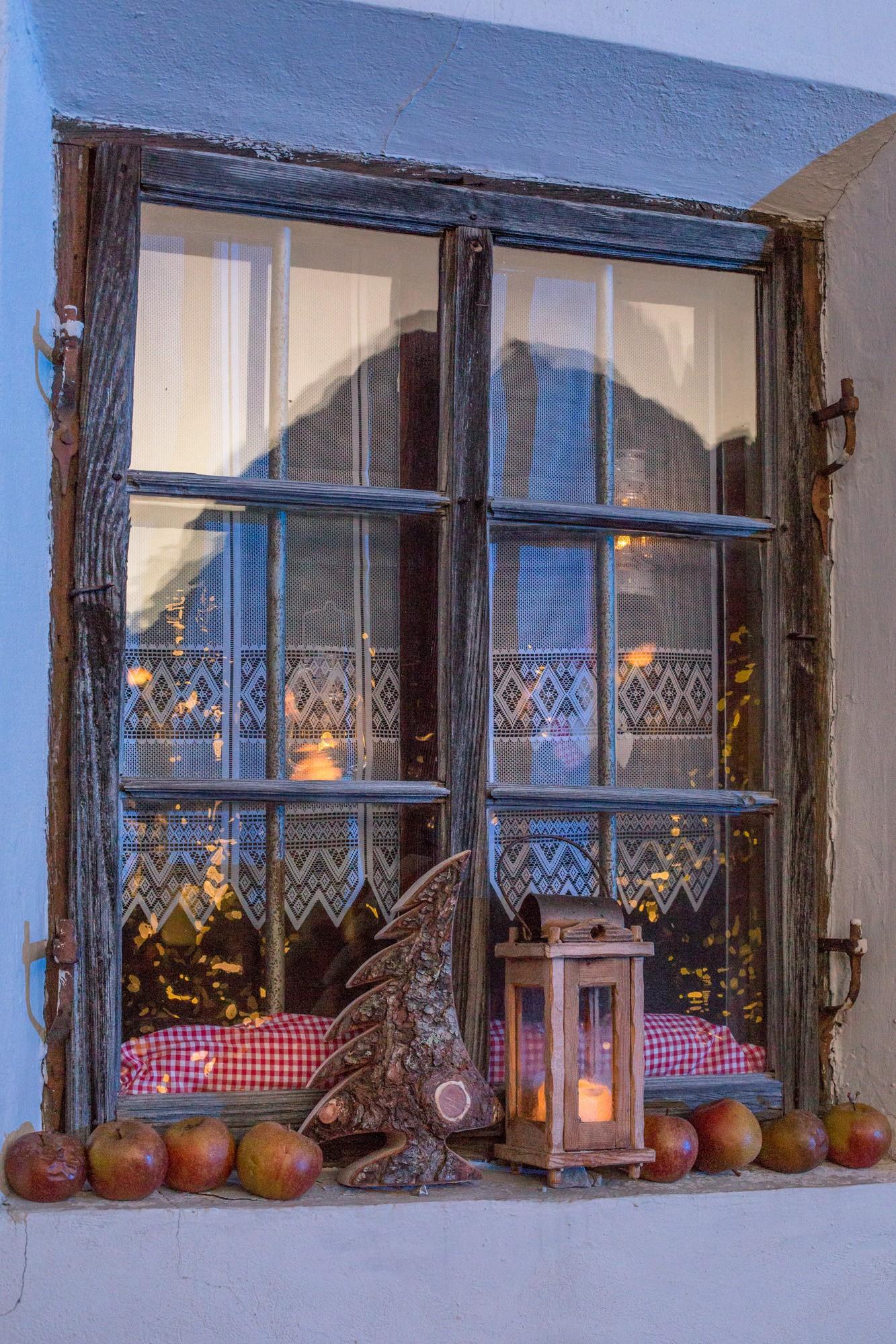 Fenster, Weihnachtsdekoration
