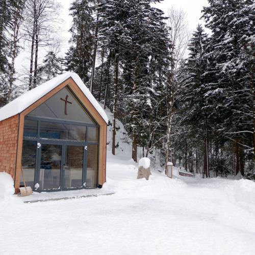 Joseph-Mohr-Gedächtniskapelle, Kapelle, Schnee