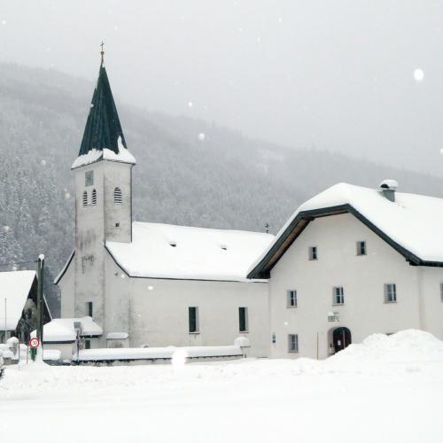 Kirche, Hintersee, Schnee
