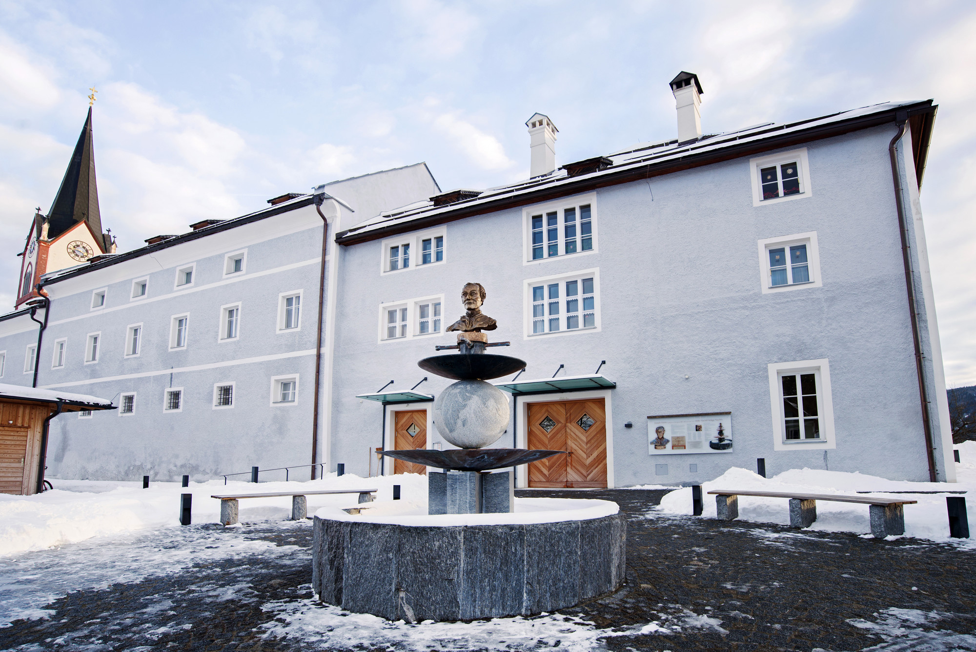 , Joseph-Mohr-Brunnen in Mariapfarr