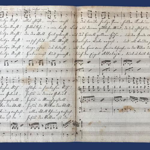 "© Martin_Reiter: The eldest obtained transcript of ""Silent Night! Holy Night!"" in Tirol, Mariastein, 1830"