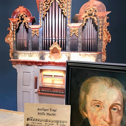 © Martin_Reiter: Mauracher-Orgel from Hart in Zillertal, Portrait from Carl Mauracher and Blasius Wimmers Version with the 7th verse around 1819
